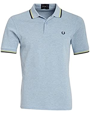 Men's Twin Tipped Polo Shirt-M1200, Navy/White/White,