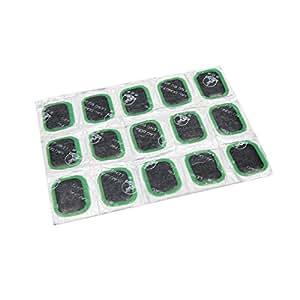 sourcingmap® 15 Pcs universal de Neumáticos punción Parche Neumático Reparar Herramienta 24 x 35 mm para el Vehículo Coche: Amazon.es: Coche y moto