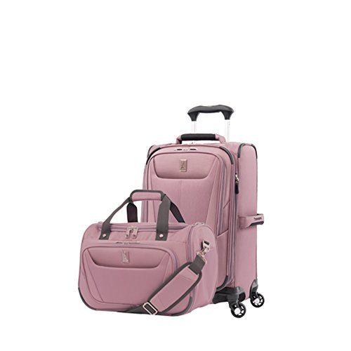 Travelpro Luggage Maxlite 5   2-Piece Set   Soft Tote and 21-Inch Spinner (Dusty Rose) (Stacking Suitcase Set)