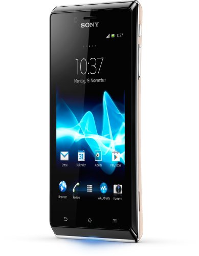 Sony Xperia J Smartphone (10,2 cm (4 Zoll) Touchscreen, Qualcomm, 1GHz, 512MB RAM, 5 Megapixel Kamera, Android 4.0) gold