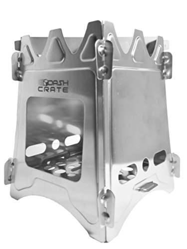 Dash Crate Ultra Lightweight Portable Stove with Nylon Carry Bag for Camping, Hiking, Survival. Single Burner use any Fuel in the (Lightweight Alcohol Stove)