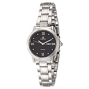 Starking Women's Black Dial Stainless Steel Band Watch - BL0859SS12