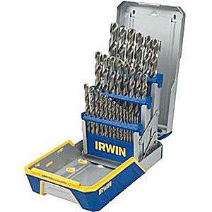 Irwin Tools  3018002 Cobalt M-35 Metal Index Drill Bit Set, 29 - Industrial Bit 29 Piece Drill