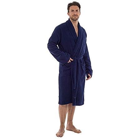 Tom Franks Men s Terry Towelling 100% Cotton Shawl Collar Bath Robe ... dc1e04cd7