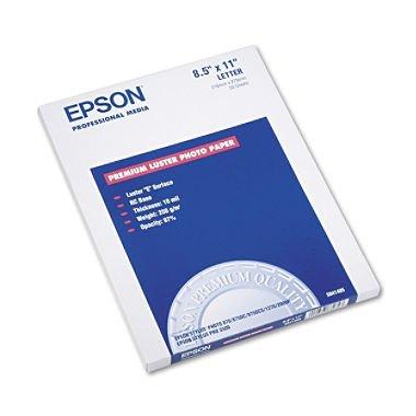 Epson - Ultra Premium Photo Paper, Inkjet, 8-1/2 x 11quot, Luster - 50 (Premium Inkjet Photo Paper)