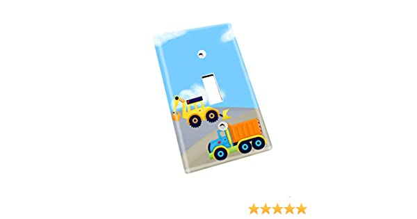 Single Decora Bright Construction Kids Bedroom Baby Nursery Single Light Switch Cover LS0012