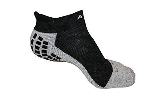 #1 Non Slip Socks, THE BEST Adult Hospital and Home Care Socks, Skid Resistant, Slipper Socks, Unisex Gripper Socks Black (Soccer Socks Trusox)