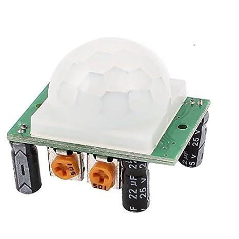 DealMux Ajuste del sensor humano por rayos infrarrojos IR Detector de movimiento PIR del módulo HC-SR501: Amazon.es: Industria, empresas y ciencia