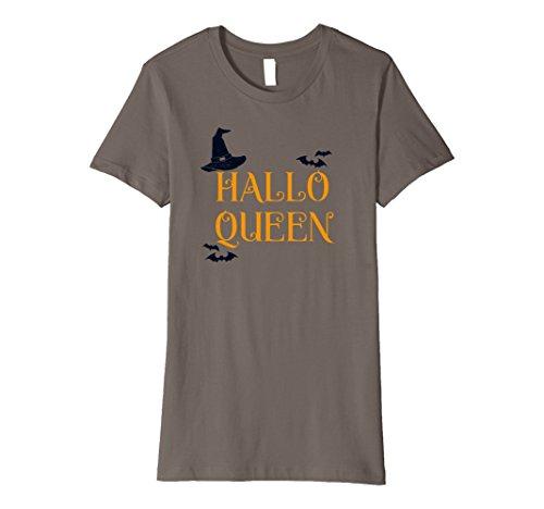 Womens Premium Halloqueen Funny Halloween Party Idea T-Shirt XL (Funny Halloween Party Ideas)