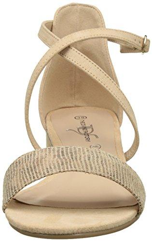 The Divine Factory Women's Brigida Open Toe Sandals Beige (Beige 006) OzTatAaG