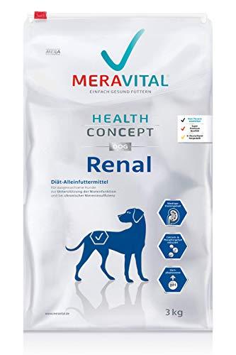 MERAVITAL Renal Hundefutter trocken 3 kg für Hunde bei Nierenerkrankungen – Niedriger Gehalt hochwertiger Proteine zur…