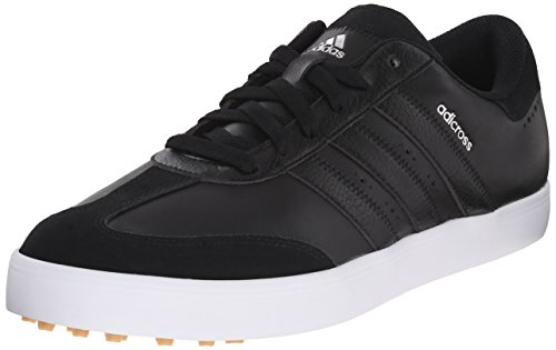 adidas Men's Adicross V Golf Shoe, Black/White, 10 M US