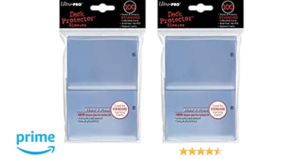 Standard Magic the Ultra-Pro Black Deck Protector Sleeves 2-Packs 200