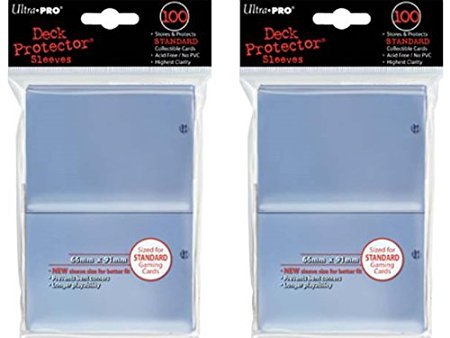 200-Ultra-Pro-Clear-Deck-Protector-Sleeves-2-Packs-Standard-Magic-the-Gathering-Size-1-Pack