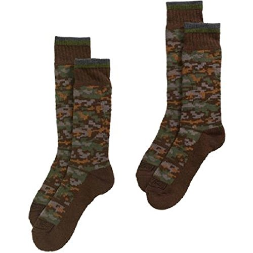 Dickies Premium Steel Toe Thermal Camo Wool Crew Socks (2-Pack) 10-13 ()