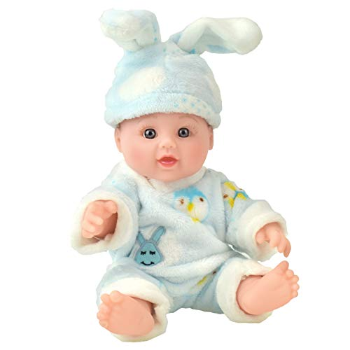 TUSALMO 12 inch Vinyl Newborn Baby Dolls for Children's and Granddaughters Holiday Birthday Gift, Lifelike Reborn Washable Silicone Doll, Reborn Baby Doll. (Blue Rabbit)