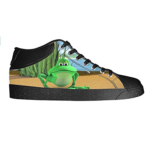 Custom Lustiger Frosch Mens Canvas shoes Schuhe Lace-up High-top Sneakers Segeltuchschuhe Leinwand-Schuh-Turnschuhe C