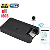 16GB Mini WiFi Hidden Spy Camera 720P DVR Security Wireless WiFi Camcorder with Push Alarm Support IOS Android Smartphone APP Remote Sureillance Battery Operating Spy Camera