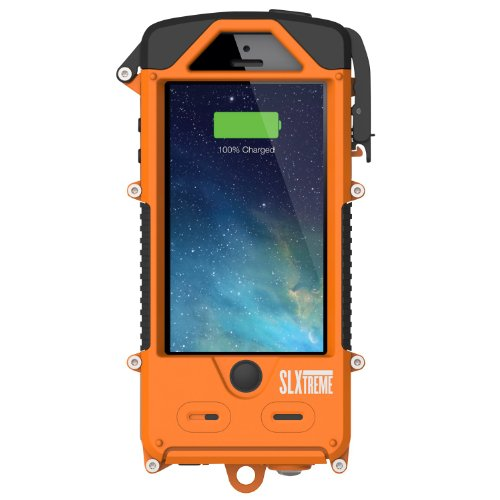 SnowLizard SLXtreme Case for iPhone 5, Signal Orange by Otis Technology