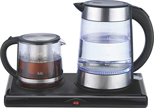 GOLDA INC. Glass Tea Maker, Electric Kettle, Tea Tray Set ...