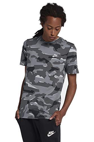 Nike Sportswear Men's Camo T-Shirt (Large, Wolf Grey/Cool Grey/White)