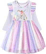 VIKITA Kids Girl Longsleeve Casual Winter Tutu Party Dress for Children 2-8 Years