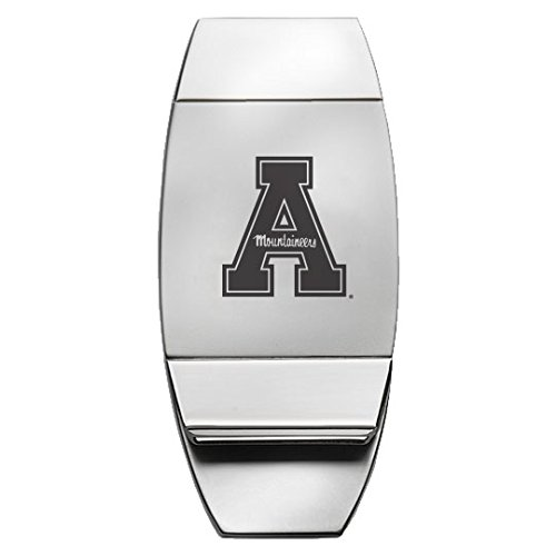 State Money Clip (Appalachian State University - Two-Toned Money Clip - Silver)
