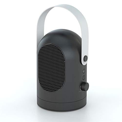 WLIXZ Mini Calentador, Aire Acondicionado De Escritorio Pequeño, para El Hogar U Oficina, con Termostato Ajustable,Black