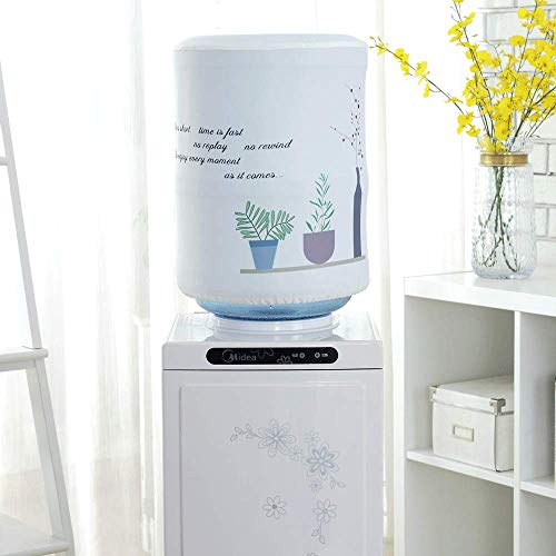 MiDubi Water Dispenser Barrel Covers, Durable Fabric Bucket Decor, Reusable Furniture Standard Cover Protector for Home, Office and 5 Gallon Water Bottle (Chlorophytum)
