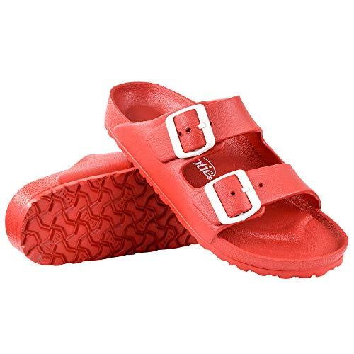AEROTHOTIC - Water Friendly Light Weight EVA Sandals and Flip Flops for Women - One Piece Technology (US-Women-7, IRIS Red)
