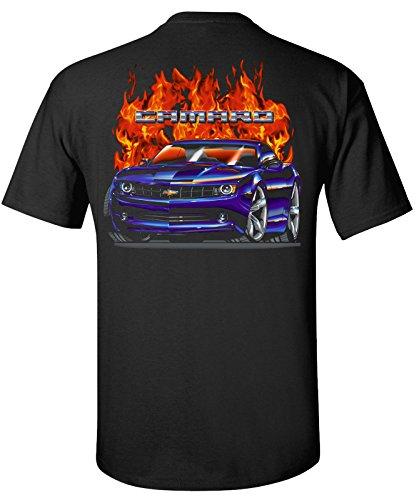 (2010-2013 Chevrolet Camaro Flamed T-Shirt 100% Cotton Preshrunk )