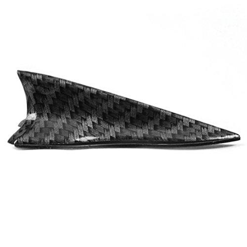 CosCosX 1 Pc Mini Shark Fin Diffuser Vortex Generator Universal Car Truck SUV Roof Decoration Spoiler Wing Carbon Fiber Car Accessories New Style -