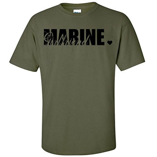 Marine Girlfriend Short Sleeve T-Shirt in Military Green - Small