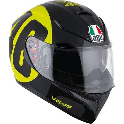 AGV K3 SV 46 Adult Helmet - Black/Yellow / Meadium/Small ()