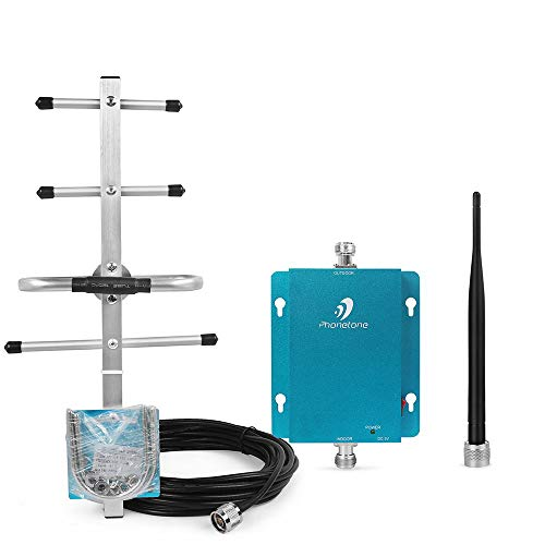Phonetone 62dB 850MHz 3G GSM Cellular Phone Signal Repeater Booster Amplifier Yagi Antenna and Whip Antenna