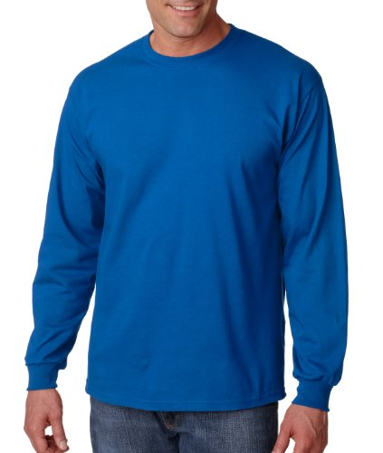 Gildan Mens 6.1 oz. Ultra Cotton Long-Sleeve T-Shirt G240 -ROYAL XL