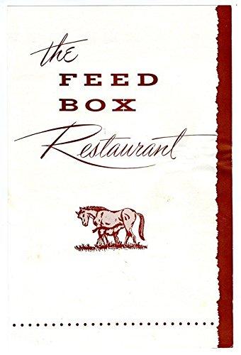 Lodge Napkin - Feed Box Restaurant Menu & Napkin Roanoke Virginia 1960s Lakeview Motor Lodge