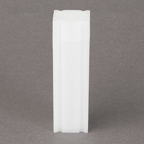 (10) Coinsafe Brand Square White Plastic (Penny Cent) Size Coin Storage Tube Holders