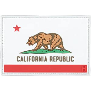 Maxpedition Gear California Flag Patch, Full Color, 3 x 2-Inch