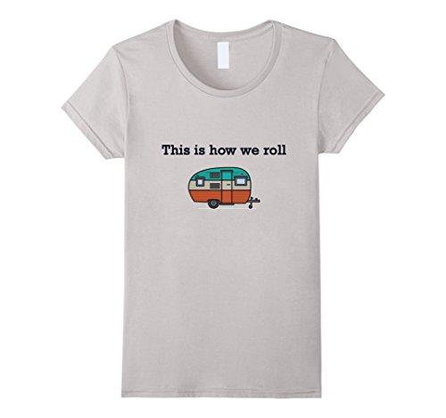 Womens Funny Retro RV Camping T-shirt