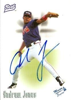 Autograph Warehouse 89223 Andruw Jones Autographed Baseball Card Minor League 1996 Team Best Rookie