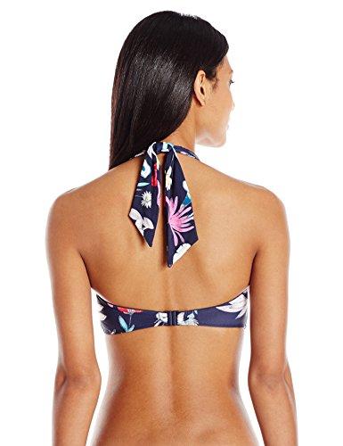 Seafolly Women's Flower Festival Halter Bandeau Bikini Top, Indigo, 2
