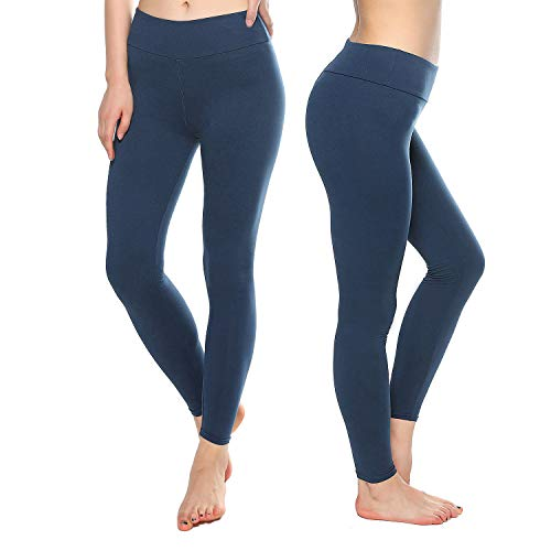KT Super Soft Buttery Leggings - High Waisted Slimming Leggings - Womens Tummy Control Pants (One Size, Navy) -
