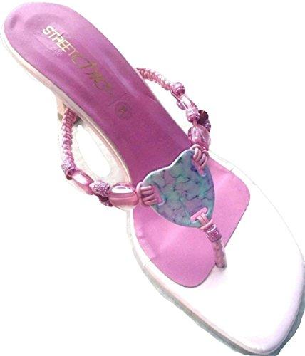 Para Vestir Sandalias Chic Mujer Street De Rosa xvp4n0