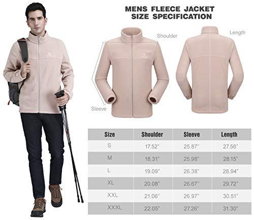3a02767be371b CAMEL CROWN Mens Full-Zip Fleece Jackets Soft and Lightweight Polar Fleece  Jacket for Men