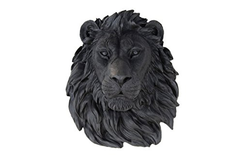 Near and Deer Faux Taxidermy Lion, Black by Near and Deer