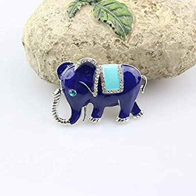 FOLCONROAD Auto Diamond Elephant Car Air Conditioning Outlet Clip Decorative (Blue)[US Warehouse] Christmas Gifts: Automotive