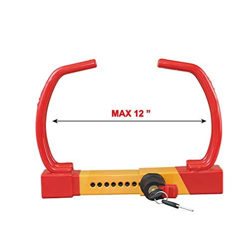 Red Universal Heavy Duty Security Anti-Theft Wheel Clamp Max 12'' Lock w/2 Keys by OKLEAD (Image #3)