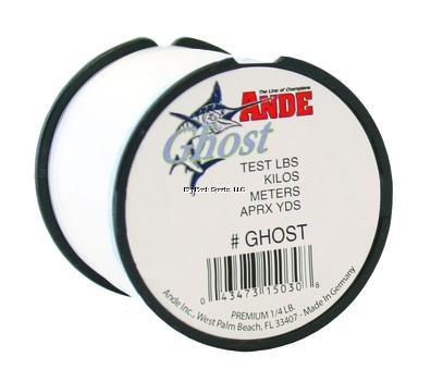 Ande G14-25C Ghost Monofilament, 1/4-Pound Spool, 25-Pound Test, Matte-White Finish