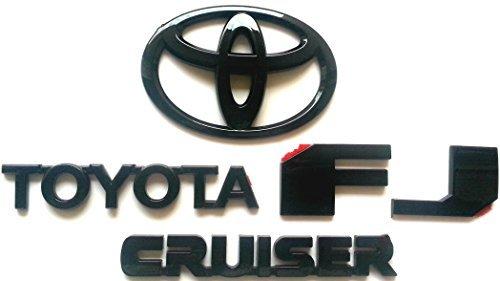 Gloss Black Cruiser - Tacraft T-FJB T-10B T-TYB Black Out FJ Cruiser Rear Door Emblem Logo Badge Nameplate Gloss Black for FJ Cruiser